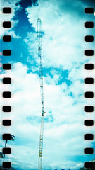Solingen (somekeepsakes) Tags: 2012 analog analogue baukran crane crossprocessed deutschland europa europe film germany lomo lomography panorama panoramic solingen sprocketrocket sprockets xpro