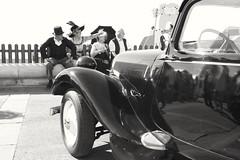 Un t au bord de la mer... (Sivispacem...) Tags: merrill sd1 1835 art traction citroen classic car black white noir blanc