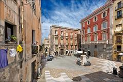 cagliari (heavenuphere) Tags: cagliari sardegna sardinia sardinie italia italy europe island historic city centre old square architecture laundry balcony 1635mm