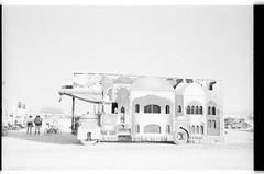 Mutant Vehicle in the Blazing Desert (WideAngleWandering) Tags: olympusstylusepic nevada blackrockcity kodaktmax3200