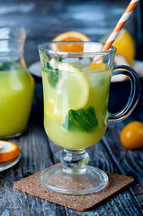 Ice Cold Lemonade With Mint (lyule4ik) Tags: lemon water drink glass mint fruit table green yellow refreshing sour refreshment lemonade food tonic beverage summer ice citrus cocktail pitcher outdoor grass freshness cold nobody copyspace slices nonalcoholic party summertime ripe thirsty picnic closeup healthy icecubes juice yard liquid tasty taste fruity alcoholic juicy non slice white spring sweet