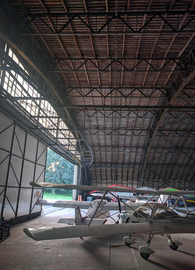 Inside the enormous cathedral to aviation at Saint Omer
