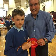 Awarding the prizes at Haddington Festival's pet show