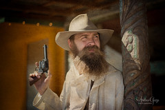Trouble Brewing on the Horizon (Andrea Garza ~) Tags: western ranchhand rancher texas cowboy cowboys gun gunfighter oldwest gunslinger wildwest pistol revolver sheriff bandit texasphotofestival sixshooter
