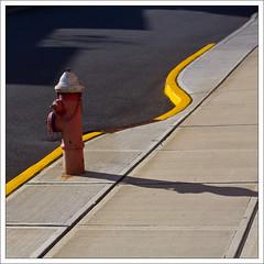 Fire Hydrant and Curvy Sidewalk (Ebanator) Tags: canon60d nikkor5014nonai nonailens firehydrant sidewalk hydrant fireplug