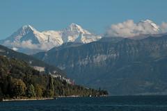 Eiger - Mnch - Jungfrau in den Berner Alpen - Alps ber dem Thunersee im Berner Oberland im Kanton Bern der Schweiz (chrchr_75) Tags: albumzzz201610oktober christoph hurni chriguhurni chrchr75 chriguhurnibluemailch oktober 2016 hurni161003 kantonbern schweiz suisse switzerland svizzera suissa swiss kanton bern berner oberland berneroberland thunersee alpensee see lake lac s jrvi lago  albumthunersee mnch kantonwallis kantonvalais berg mountain montagne alpen alps