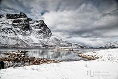 Big Scenery (Nigel Jones QGPP) Tags: winter sky mountain snow cold water norway scenery bleak fjord drama arcticcircle tromso whaleisland kvaloya