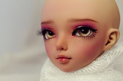 Minifee Luka - faceup commission (Darcy 1813) Tags: pink colour cute face up ball doll artist purple sweet tan magenta adorable expressive bjd resin eyeshadow fairyland eyebrows luka msd jointed faceup minifee