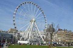 The Big Wheel, Piccadilly Gardens, Manchester (westport 1946) Tags: england architecture manchester architektur ferriswheel piccadillygardens thebigwheel