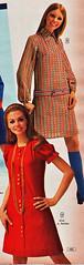 Aldens 70 fw 2 minidresses (jsbuttons) Tags: clothing mod buttons womens 70s catalog 1970 seventies aldens vintagefashion