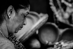 women Portrait (Salmi Kabir) Tags: street portrait bw white black photography photo nikon women fotografie candid side dhaka bd bangladesh olddhaka d90 nikon90
