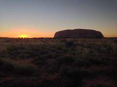 Le coucher du soleil sur Uluru