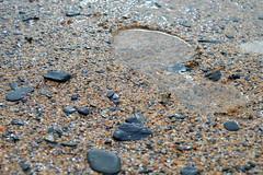 Footprint (DaveTaylor2014) Tags: uk england colour macro feet water stone landscape foot shoe seaside sand nikon close stones shingle pebbles footprint indent d3200
