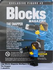 Blocks Magazine Minifigure #2 : The Snapper (KatanaZ) Tags: lego minifig exclusive minifigure thesnapper customminifigure blocksmagazine