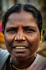 Adivasi woman, Bastar, Chhattisgarh (Simon Spicknell) Tags: portrait nikon streetphotography photojournalism tribal jewellery nosering tribe indigenous reportage travelphotography nosestud documentaryphotography adivasi