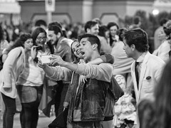 ONE BY ONE Feria de Abril Gateway Flota de Indias Av 00-01h NONO TOUS  26 (24 hours of Seville Street Life) Tags: blackandwhite bw byn blancoynegro real sevilla feria fair seville bn portada noria flamenca atracciones obo gitana lunares procesin caseta feriadeabril streetphotograpy cacharritos recintoferial faralaes onebyone rebujito calledelinfierno paseoacaballo fotografacallejera capitalhispalense nonotous