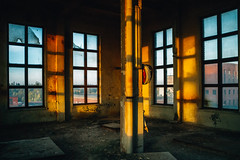 Golden years (side rocks) Tags: abandoned abandonedbuilding abandonedhouse abandonedplaces building urbex urbanexploration urbandecay decay derelict destroyed destruction decrepit postapocalyptic forgotten entropy old past history finland lost exploration exploring abandonedfactory abandonedindustry sunset shadows light goldenhour goldenlight industrialsunset window windows high tower