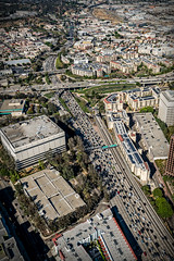 20160721 DTLA Aerial -11 (Tony Castle) Tags: aerial photography helicopter heli canon 5diii sony a7rii mirrorless sigma mc11 converter sky city la dtla los angeles traffic