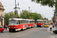 2015-05-12, Praha, Most Legi (Fototak) Tags: tram strassenbahn tatra t3 czechrepublic praha ligne22 7121 7235 8390