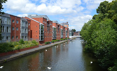 River Soar (lcfcian1) Tags: city building water skyline buildings river leicestershire leicester centre waterway soar riversoar leicestercitycentre