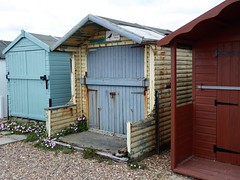 Seen better days... (oh.suzannah) Tags: huts beach decayed aged weathered