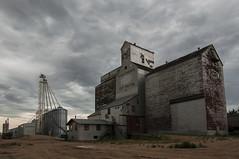 Cut Knife (Len Langevin) Tags: saskatchewan canada cutknife grain elevator prairie sky cloud nikon d300 tokina 1116