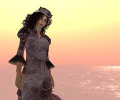 Pink Bustle gown (anniedora651) Tags: misty dress clothes frock gown bustle