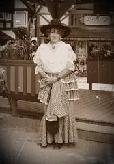 A Voyage Of A Lifetime! (Laurette Victoria) Tags: monochrome laurette auntlaurette costume hat blouse bristol renfaire