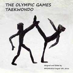 TAEKWONDO (PICARUELO) Tags: origami papiroflexia crumple crimp arrugado seda taekwondo sport deporte