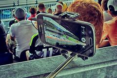 private display (camerito) Tags: cars austria sterreich flickr racing smartphone circuit formula1 spielberg tribune gp steiermark j4 styria tribne nikon1 selfiestick camerito redbullring