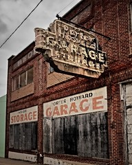 GARAGE (Pete Zarria) Tags: louisiana garagre sign neon abandoned decaying urban auto storage outdoors ghost