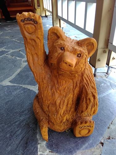 Welcoming bear to Visavuori