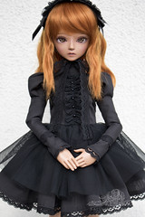 black lolita (kalcia) Tags: robin lolita bjd abjd bluefairy balljointeddolls tinyfairy bjdclothing bjdlolita