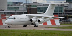 Cello Aviation Bae 146 G-RAJJ (stephenjones6) Tags: jet aeroplane cello aviation bae 146 bae146 grajj corporate egcc ringway manchester