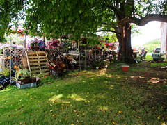 P6080771 (photos-by-sherm) Tags: good quilts retail garden flowers sculpture yard accessories amana iowa summer decorations metal