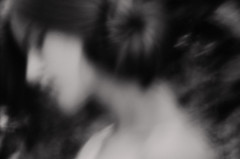 M (Hvdrngr) Tags: digital pinhole bw art natural light long exposure girl pictorialism