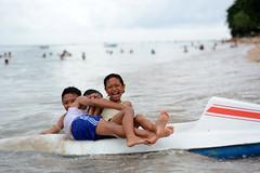 Playing children in Bali (evaszalkay) Tags: children playing fun smile bali sanur asia water sea