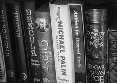 Library (Rico Shay) Tags: stilllife library blackandwhite books horror michaelpalin dracula ghoststories poetry