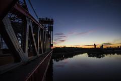 newport sunset 02 (Ian Robinson Pictures) Tags: river tees newportbridge newport bridge sunset middlesbrough teesside