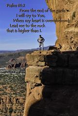 My son John Paul on Cathedral Rock, Sedona, AZ 2012 (TAC.Photography) Tags: psalm612 bible bibleverse rock redrock sedona arizona cathedralrock scripture