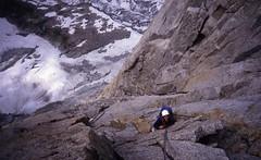Below the Jammed Block (andywalker1) Tags: andrewwalker americandirect dru petitdru chamonix alps alpineclimbing