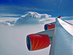 Air India 747-400 (Tales Fom A Tube.) Tags: air india airindia 747400 boeing cloudporn clouds windowseat winglet avgeek planespotting
