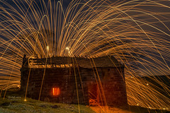 Roach End Barn #3 (aevo69) Tags: andy evans andyevanscreations wire wool peak district barn night photography derilict farm wow cool