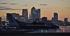 G-ISLF (2) @ LCY 25-09-16 (AJBC_1) Tags: london londoncityairport eglc lcy flylcy aviation plane aircraft airliner aeroplane civilaviation passengerplane royaldocks londonsroyaldocks londonboroughofnewham northwoolwich newham eastlondon propliner transportation transport gislf blueislands atr42 dlrblog avgeek england unitedkingdom uk ajc airplane flybe docklands nikond3200 sunset dusk citybuilding cityskyline city