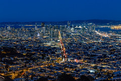 San Francisco from Twin Peaks [EXPLORED - 10/7/16] (dr_stan3) Tags: sanfrancisco twinpeaks night longexposure city urban oaklandbridge bayarea marketstreet california canon eos 6d canon70200mm
