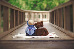 You've got a friend in me (Tristan Duplichain) Tags: baby boy man pose teddy bear stuffed animal sweet outdoor natural light nature canon 5d mark iii 85mm 12 blur photoshop photo photoshopcs5 portrait photograph photography life love cute babies newborn firstbirthday tristan duplichain mississippi photographer jackson tutorial art social media edited retouched viral popular new pretty howto diy posing assignment reflection reflector travel together trees bridge outdoors expression emotion