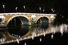 la garonne (Filip Runes Photography) Tags: reflection pont neuf toulouse nuit