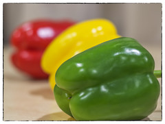 Traffic light peppers (wilstony1) Tags: peppers depth field colours red yellow green canon eos650d