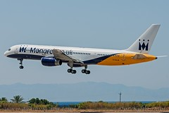 G-DAJB, Monarch Airlines, Boeing 757-2T7 - cn 23770. (dahlaviation.com Thanks for over 1 !! million view) Tags: airplane aircraft aviation airplanes greece boeing rhodes spotting 757 aircrafts rho planespotting monarchairlines lgrp diagoras
