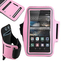 pink sports armband cycling release running case... (Photo: paulbulmer on Flickr)